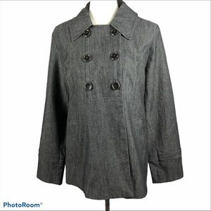 Sandro heathered Charcoal modern jacket, blazer